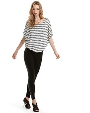 Essie Striped Dolman sleeve top