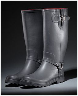dirty laundry bucket rain boot