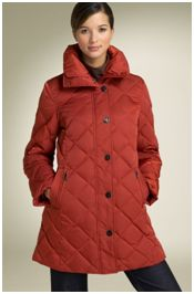 gallery a-line quilted down coat