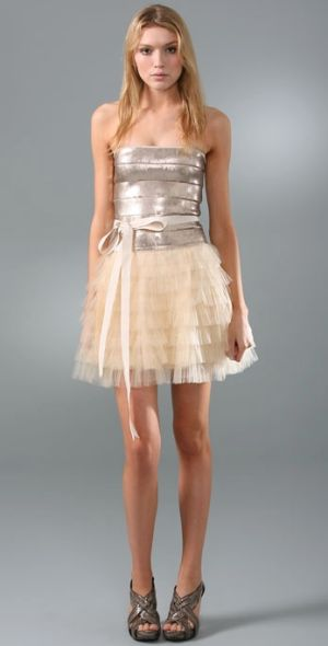 Sequin Tulle Cocktail Dress