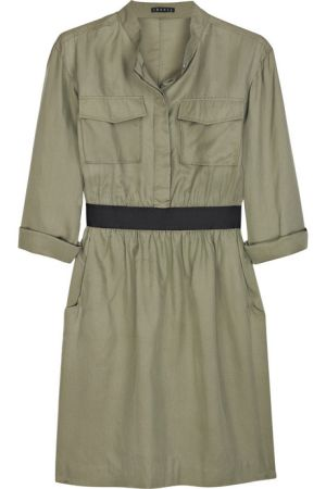 mettie silk-blend shirt dress