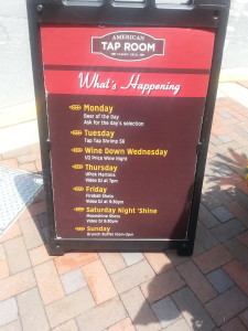 american tap room events