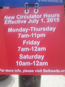 new circulator hours